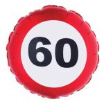 PALLONCINO 60 ANNI - FOIL EXTRA - TRAFFIC SIGN