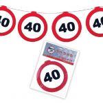 FESTONE GHIRLANDE 40 ANNI - TRAFFIC SIGN